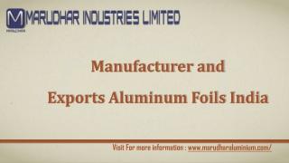 Aluminium Foils Manufacturers