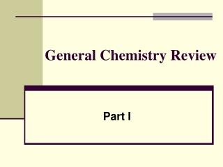 Basic General Chemistry