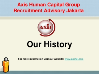 Our History of Axis Human Capital Group Recruitment Advisory