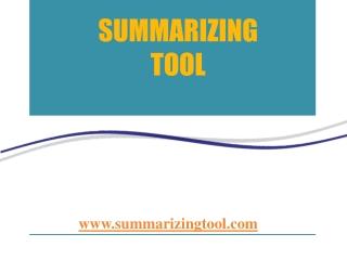 Summarizing Tool