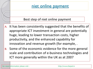 Some of the institutes provide niet online payment