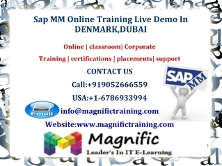 Sap MM Online Training Live Demo In DENMARK,DUBAI