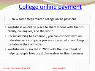 How to choose the way of  college online  paymnet