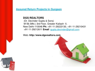 DGS Realtors Provide Affordable Residential Properties