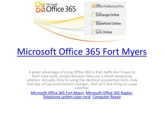 Microsoft Office 365 Fort Myers