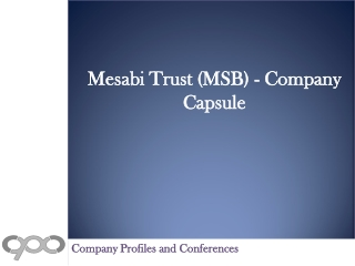 Mesabi Trust (MSB) - Company Capsule