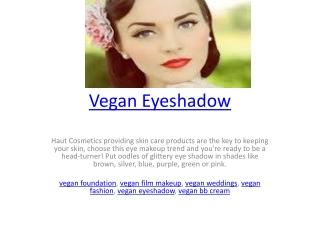 Vegan Eyeshadow
