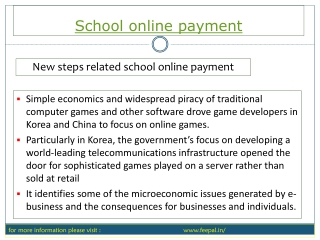 Tips and advice for school online payment