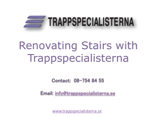 Renovating Stairs with Trappspecialisterna