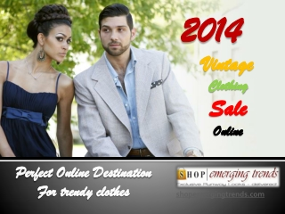 Trendy Vintage Clothing Collection Online at Emerging Trends