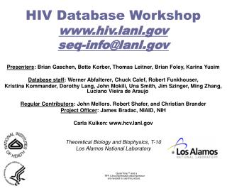 hiv database workshop hiv.lanl seq-infolanl