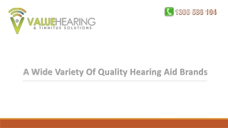 A Wide Variety Of Quality Hearing Aid Brands