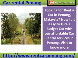 Car rental Penang