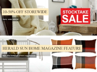 Enjoy the BIG STOCKTAKE SALE at The Bedspread Shop