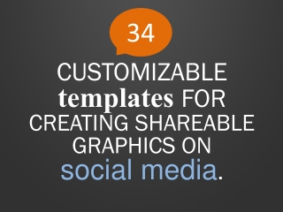 CUSTOMIZABLE  templates FOR  CREATING SHAREABLE GRAPHICS ON  social media .
