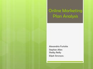 Online Marketing Plan Analysis