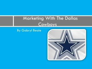 Marketing With The Dallas               Cowboys