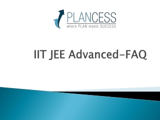 IIT JEE Advanced FAQ