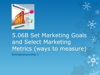 5.06B Set Marketing Goals and Select  Marketing  M etrics (ways to measure)
