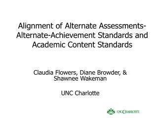 alignment of alternate assessments-alternate-achievement standards and academic content standards
