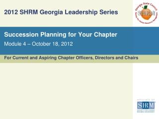 2012 SHRM Georgia Leadership Series