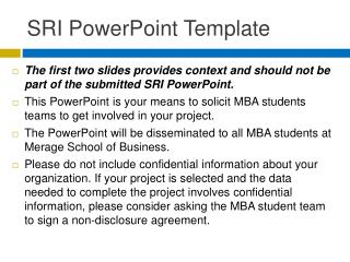 SRI PowerPoint Template
