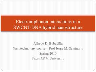 Electron-phonon interactions in a SWCNT-DNA hybrid nanostructure