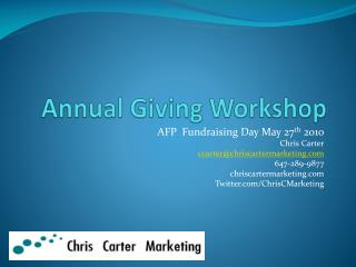 Annual Giving Workshop