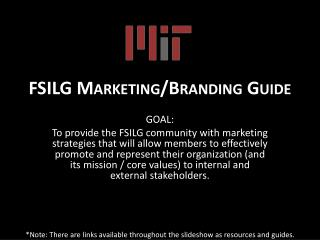 FSILG Marketing/Branding Guide
