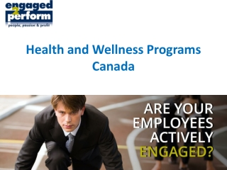 Health and Wellness Programs Canada