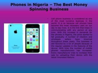 Phones in Nigeria