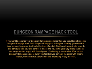 Dungeon Rampage Hack Tool