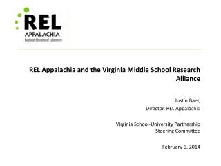 REL Appalachia and the Virginia Middle School Research Alliance
