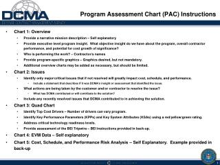 Program Assessment Chart (PAC) Instructions