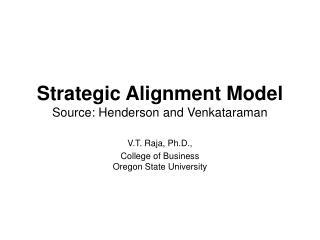 strategic alignment model source: henderson and venkataraman
