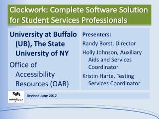 Clockwork: Complete Software Solution for Student Services Professionals
