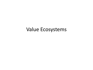 Value  Ecosystems