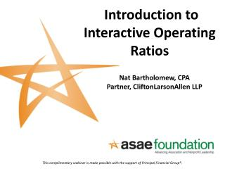 Introduction to Interactive Operating Ratios
