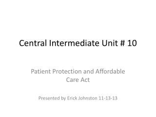 Central Intermediate Unit # 10
