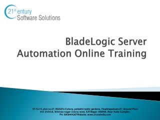 Blade  Logic Training