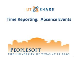 Time Reporting:  Absence Events