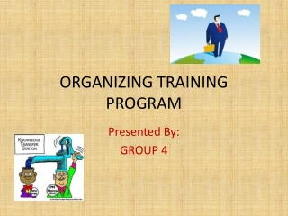 ORGANIZING TRAINING PROGRAM