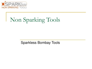 Non Sparking Tools