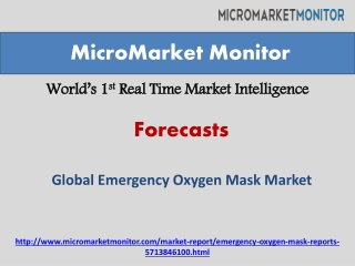Global Emergency Oxygen Mask Market Research Report