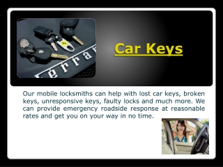 Car Keys Replacement