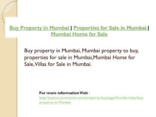 Buy Property in Mumbai | Properties for Sale in Mumbai | Mum