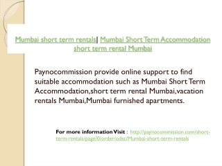 Mumbai short term rentals| Mumbai Short Term Accommodation |