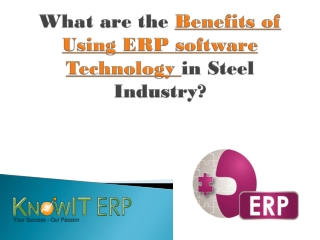 What are the Benefits of Using ERP software Technology in St