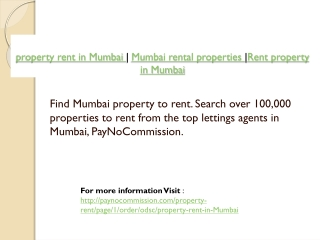 property rent in Mumbai | Mumbai rental properties |Rent pro