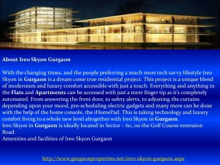 Ireo Skyon in Gurgaon